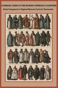 Clerical Garb of the Roman Catholic Cloisters by Friedrich Hottenroth