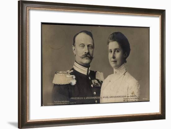 Friedrich II, Großherzog, Hilda Großherzogin V Baden--Framed Giclee Print