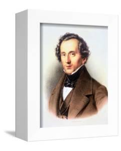 Portrait of Felix Mendelssohn by Friedrich Jentzen