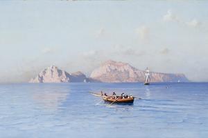 View of Capri by Friedrich Nerly
