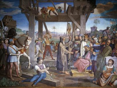 Preparations for Assault on Jerusalem, Fresco Cycle from Jerusalem Delivered
