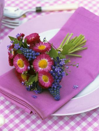 Place-Setting with Spring Posy by Friedrich Strauss