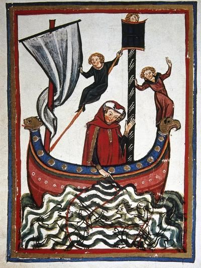 Friedrich Von Hausser Takes Journey to the Third Crusade in Which He Will Die (M.1190). Codex…--Giclee Print