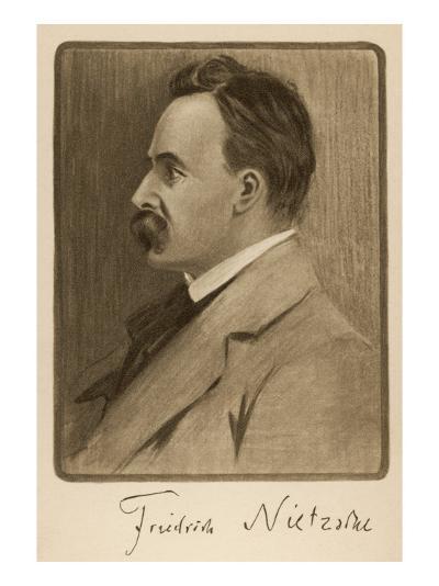 Friedrich Wilhelm Nietzsche German Philosopher and Writer--Giclee Print