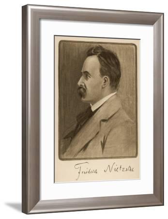 Friedrich Wilhelm Nietzsche German Philosopher and Writer--Framed Giclee Print