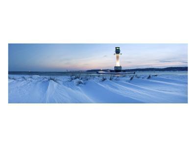 Friedrichsort Lighthouse on Kiel Fjord, Schleswig-Holstein, Germany--Art Print