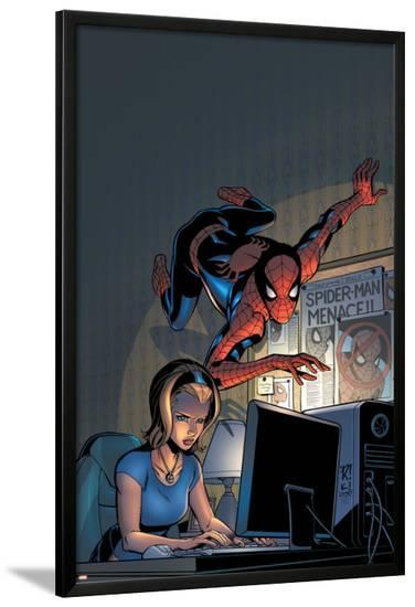 Friendly Neighborhood Spider-Man No.5 Cover: Spider-Man-Mike Wieringo-Lamina Framed Poster