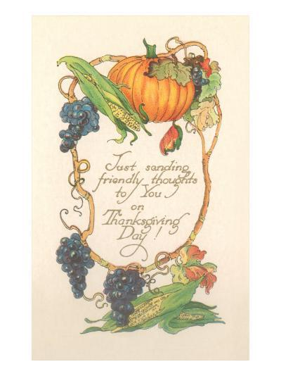 Friendly Thanksgiving Thoughts--Art Print