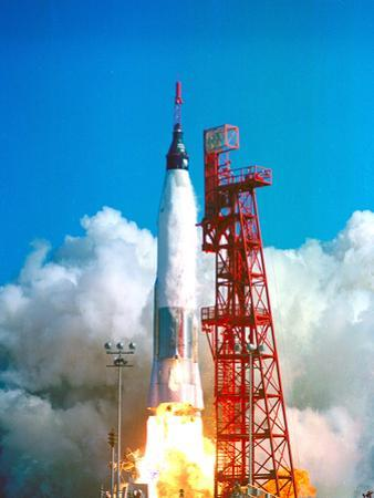 Friendship 7 Spacecraft Launches on a Mercury-Atlas Rocket on Feb. 20 1962