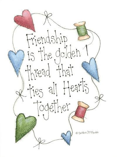 Friendship Is the Golden Thread-Debbie McMaster-Giclee Print