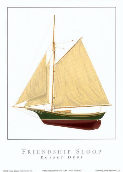 Friendship Sloop-Robert Duff-Art Print