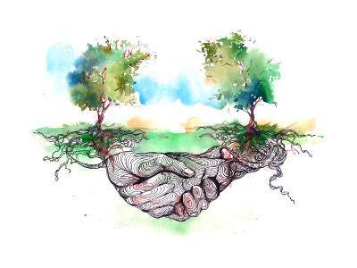 Friendship-okalinichenko-Art Print