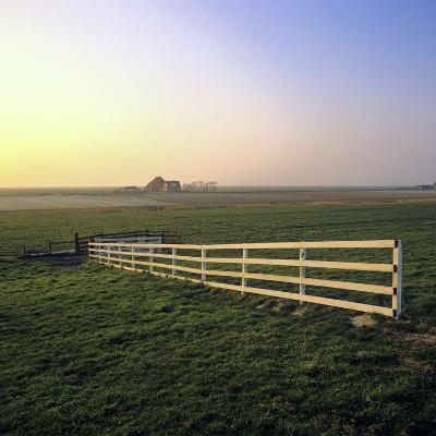 Friesland, Fence in a Field Near Workum-Marcel Malherbe-Photographic Print