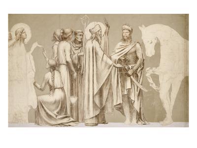 Friesland for the Decoration of the Pantheon: Saints-Pierre Puvis de Chavannes-Giclee Print