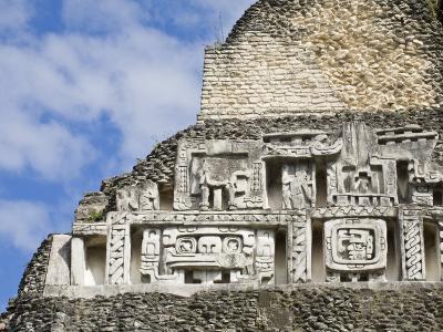 Frieze on the 130Ft High El Castillo, Xunantunich Ruins, San Ignacio, Belize, Central America-Jane Sweeney-Photographic Print