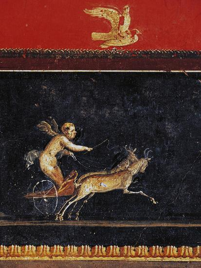 Frieze with Cupid, House of Vettii, Pompeii--Photographic Print