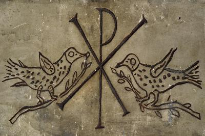 Frieze with the Early Christian Symbol of Peace--Giclee Print