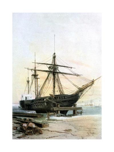 Frigate, 19th Century- L & Lauvergne Sabatier-Giclee Print