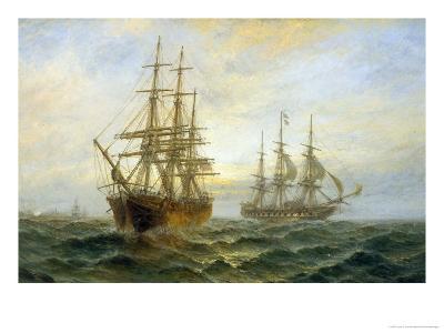 Frigate Outward Bound off Shoeburyness-Claude T^ Stanfield Moore-Giclee Print