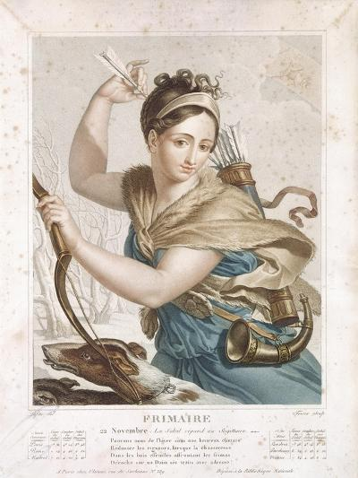 Frimaire (November/December), Third Month of the Republican Calendar, Engraved by Tresca, C.1794-Louis Lafitte-Giclee Print