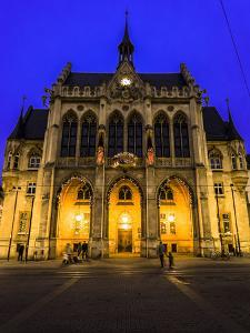 City Hall, Erfurt, Evening Mood by Frina