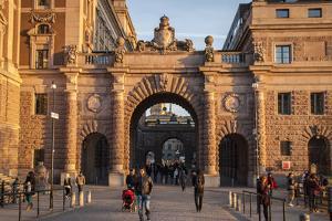Riksdag, Portal, West Side, Stockholm by Frina