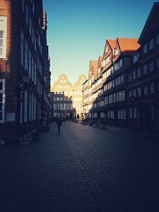 Row of Houses in Historical Peterstra§e, Hamburg by Frina