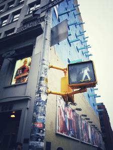 Traffic Light with Skateboard Sticker in New York City by Frina