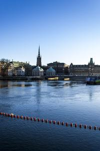 View on Riddarholmen with Riddarhuset and Riddarholmskyrkan, Stockholm by Frina