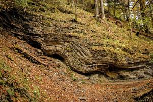 Waves of Chalk, Rock Formation, Footpath, Grainau, Upper Bavaria by Frina