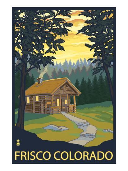 Frisco, Colorado - Cabin in the Woods, c.2008-Lantern Press-Art Print