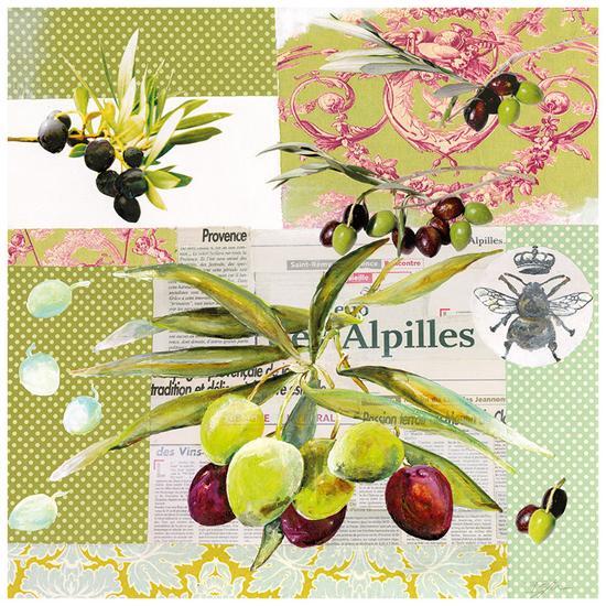 Frise Rose Olive-Lizie-Art Print