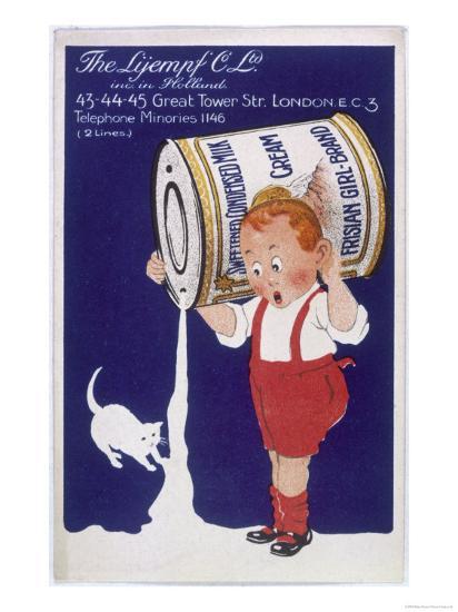 Frisian Girl Sweetened Condensed Milk--Giclee Print