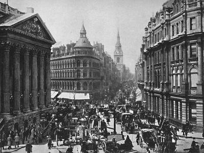 'The Mansion House and Cheapside', c1896