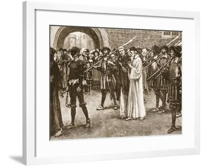 Frith Going to Martyrdom--Framed Giclee Print