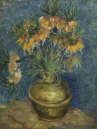 Fritillaires couronne impériale dans un vase de cuivre-Vincent van Gogh-Giclee Print