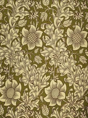 Fritillary Wallpaper, Colour Woodblock Print, England, 1885-William Morris-Giclee Print