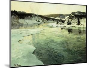 Winter on the Mesna River near Lillehammer by Frits Thaulow