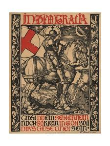 In Deo Gratia World War I Poster by Fritz Boehle