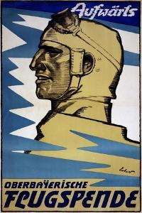 """""""Onwards: Upper Bavarian Aviation Fund"""", 1916 by Fritz Erler"""