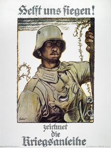 World War I: German Poster by Fritz Erler