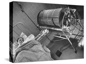 Artificial Kidney Dialysis Machine Purifying Blood Flow into patient by Fritz Goro