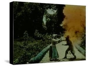 Frame of Hand-Tinted French Silent Film by Fritz Goro