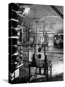 Man Working in Laboratory by Fritz Goro