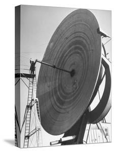 Radio Telescope Antennae Sitting at Naval Research Lab by Fritz Goro