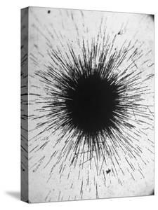 Radioactivity of Radium is Revealed by a Tiny Speck Showing the Tracks of Particles Emitted by Fritz Goro