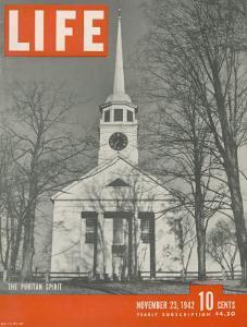 The Puritan Spirit, New England Church, November 23, 1942 by Fritz Goro