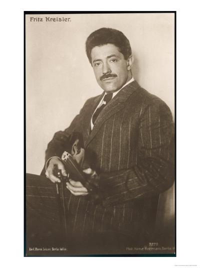 Fritz Kreisler Austrian-Born American Violinist and Composer--Giclee Print