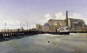 The Bridge of the Old Langebro, Copenhagen by Fritz Stahr Olsen