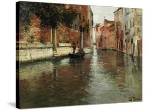 A Venetian Backwater by Fritz Thaulow